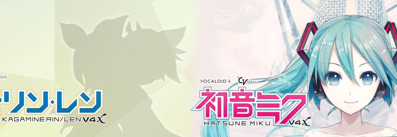 Hatsune Miku and Kagamine Rin & Len V4X Website Images