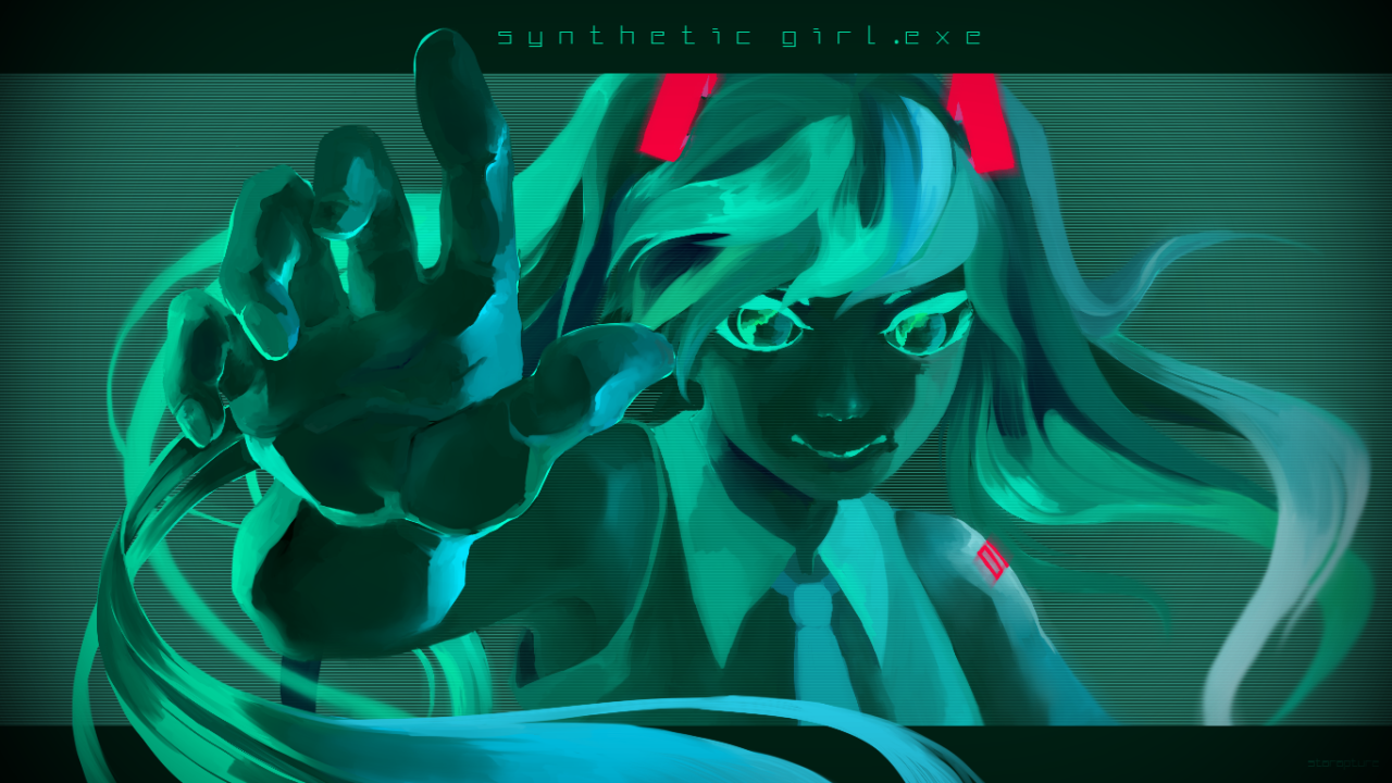 """""""Synthetic Girl"""" art by Starrapture."""