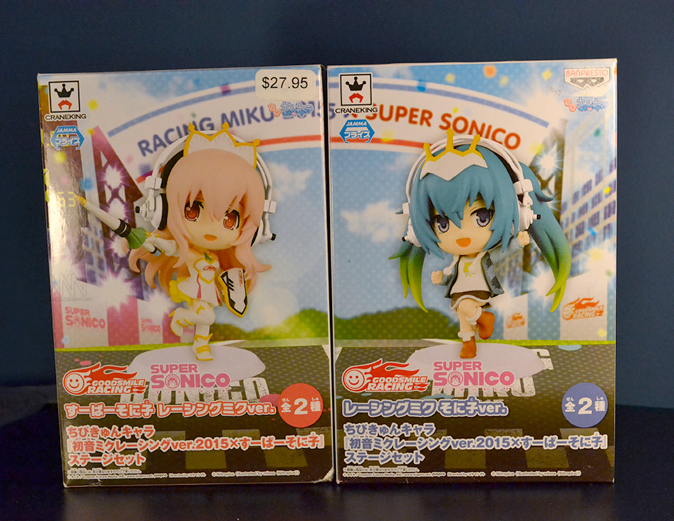 Chibi Kyun-Chara Racing Miku 2015 and Super Sonico Boxes