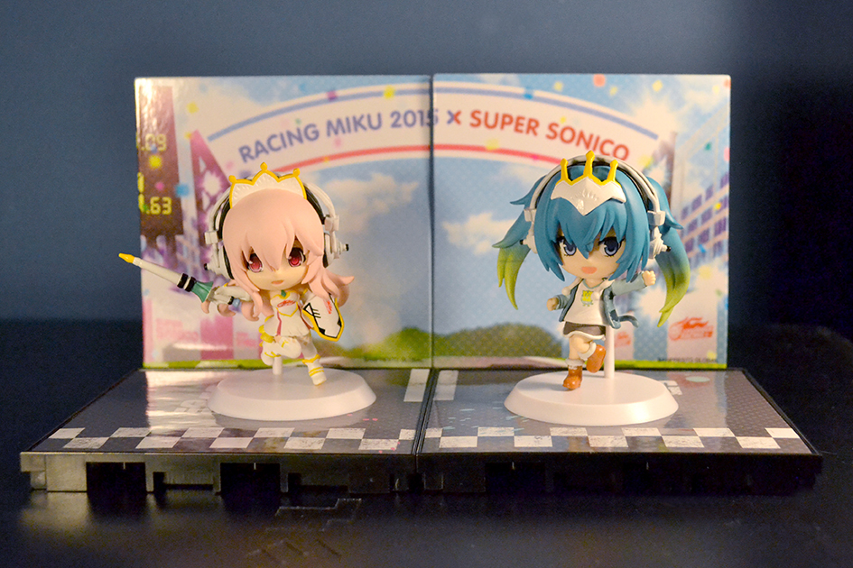 Chibi Kyun-Chara Racing Miku 2015 and Super Sonico Completed
