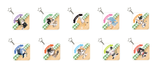 Image of Kagerou Project Keychains to be sold at ComiKet 92