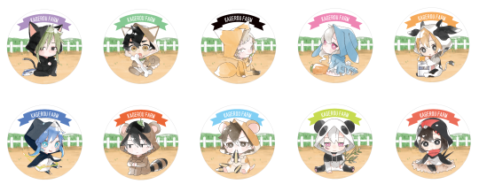 Image of Kagerou Project can badges to be sold at ComiKet 92