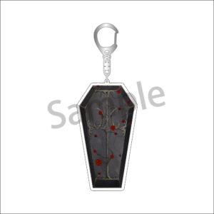 Vampire Fest coffin keychain